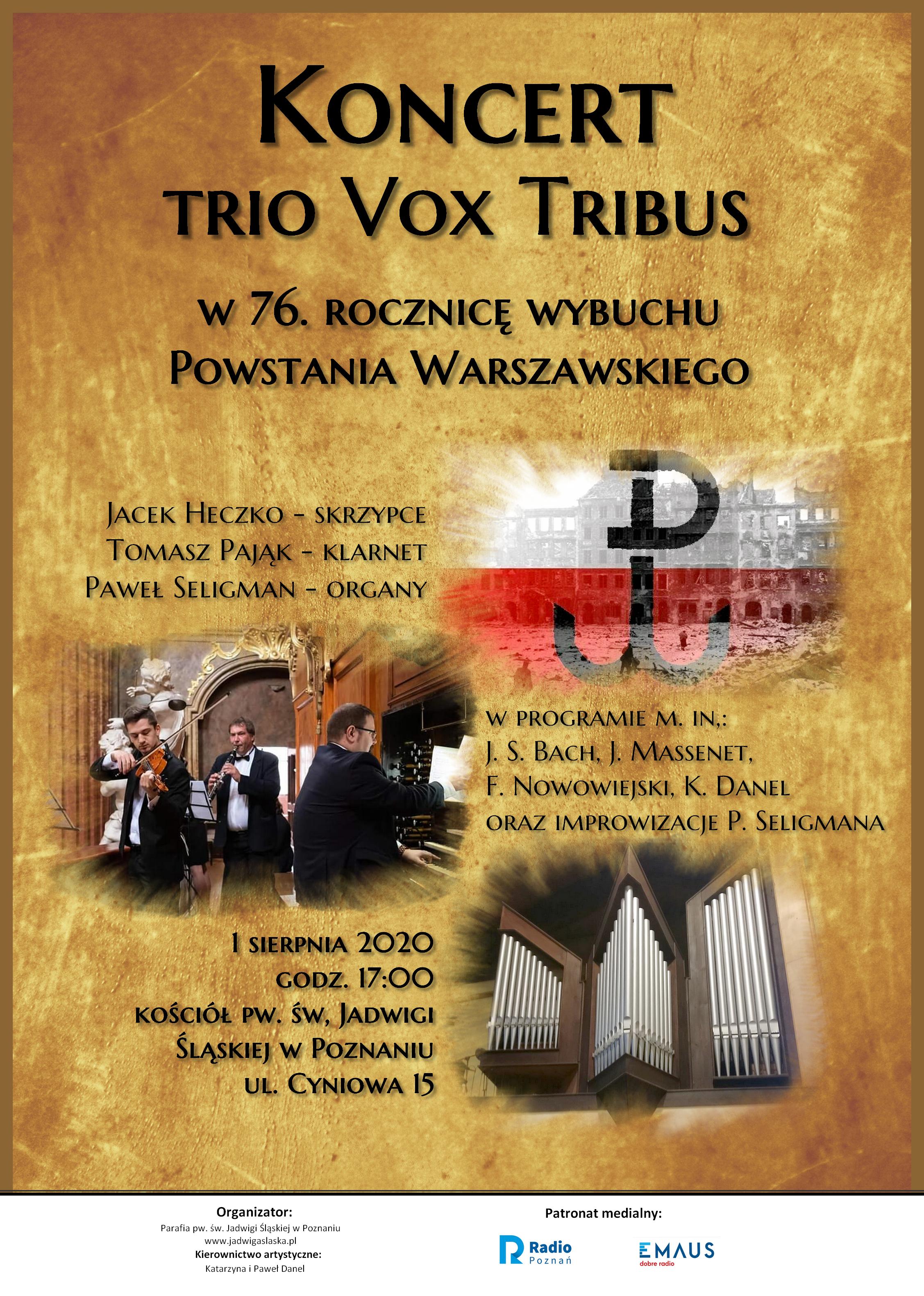 Koncert TRIO VOX TRIBUS